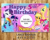 My Little Pony personalized birthday party banner decoration vinyl backdrop great milestone keepsake