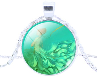 Floating Mermaid Pendant and Chain