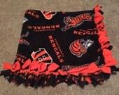 Cincinnati Bengals Blanket - Fleece No Sew Tie Throw, Bedspread / Quilt, Baby to Adult Sizes, ANY Color Backing
