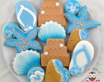Destination Wedding Cookies