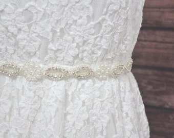ALICE Beaded Wedding Belt, Rhinestone Wedding Sash, Bridal Belt, Bridal Sash, Crystal Jeweled Belt, Crystal Rhinestone Sash, Dress Bel