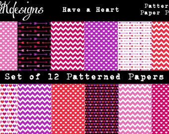 Have A Heart Patterned Paper Pack