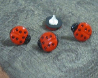 Lady Bug Post Earrings
