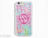 iPhone 6s Case, iPhone 6s Plus Case, iPhone 5s Case, iPhone 5c Case, Blue & Pink, Monogram (475)