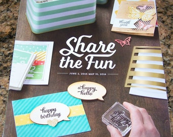 Stampin' Up Idea Book Catalog 2015-2016  - New