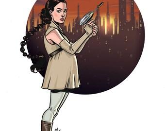 Star Wars Padme Amidala Print of Original Artwork