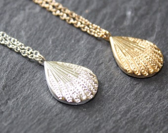 Shell Necklace Gold Shell Necklace Silver Shell Necklace Beach Necklace Beach Jewellery Nautical Necklace Seaside Jewellery
