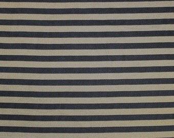 Brown Black Stripe Chiffon Fabric - 1 Yard Style 8040