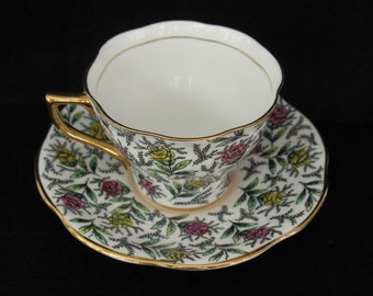 On SALE  Rosina Teacup Chintz Teacup Porcelain 5358 TeaCup Saucer Floral England Bone China