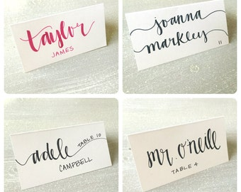 Handwritten Custom Calligraphy Placecards