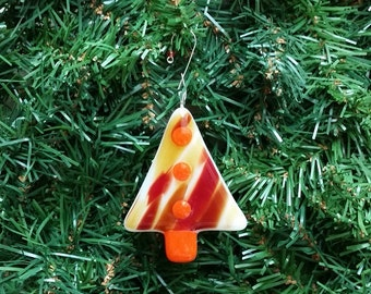 Fused Glass Tree Ornament