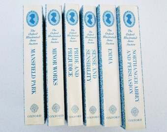 The Oxford Illustrated Jane Austen Set of 6 Paperback Books 1988