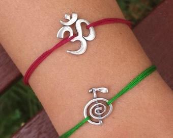 Om bracelet, yoga bracelet, yoga jewelry, om charm, meditation bracelet, ohm bracelet, charm bracelet, bracelet, yoga