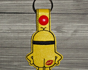 Minion Keychain - Minion Inspired Keychain -Yellow Helper Keychain - Minion Birthday - Minion Gift