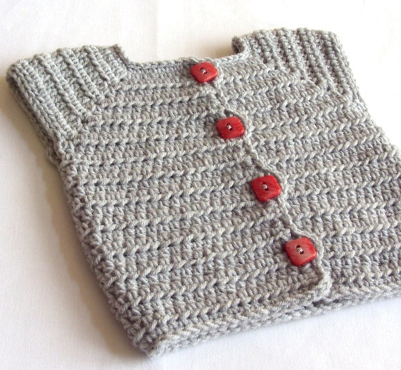 Baby Sweaters To Crochet Patterns : Baby Girl Sweater Vest Crochet PATTERN Baby by ...