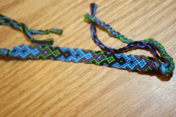 string friendship bracelet 10 string arrowhead by sewinknots