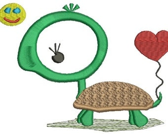 cute turtle, children's drawing  - Machine Embroidery design