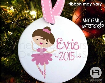 Ballerina Ornament - Ballerina Christmas Ornament - Personalized Kids Christmas Ornament with Year