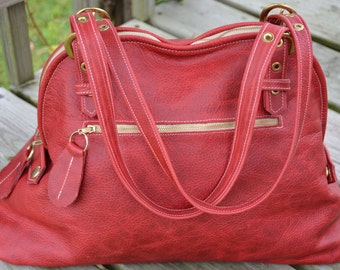 Hand Made Red Leather Purse