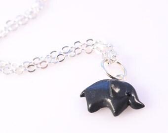 Polymer Clay Elephant Animal Necklace Pendant