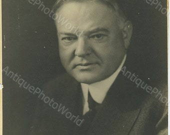 President Herbert Hoover antique photo