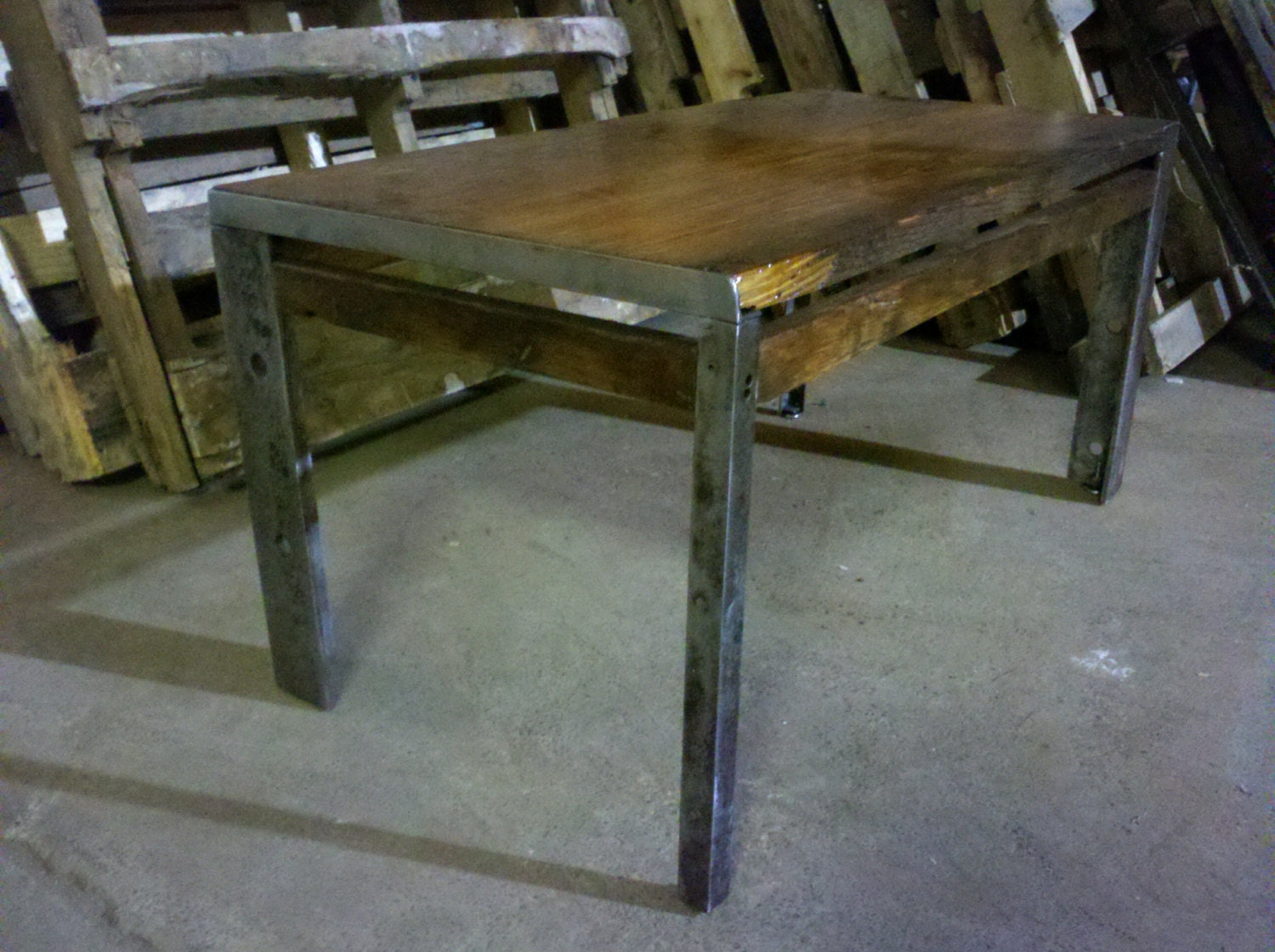 Industrial Rustic Coffee Table 35x18x17