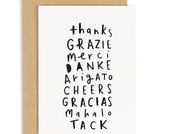 Thank You Languages Card - thank you greeting card - CC73