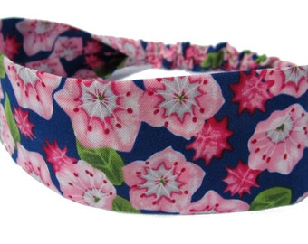 Blue Floral Headband by Sheylily