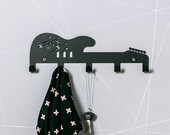 Rock Star Guitar Coat Hanger / Kids Room Ideas / Birthday Gifts For Kids / Boys room / Music Room Decor