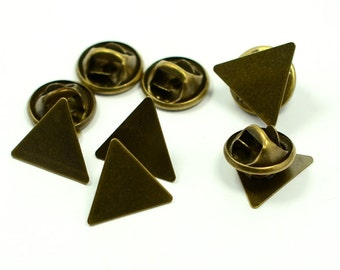 40 Pieces Triangular 14x14x14 mm Tie Tack Clutch Pin Findings