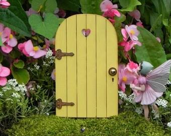 Fairy Door fairy garden miniature accessories YELLOW