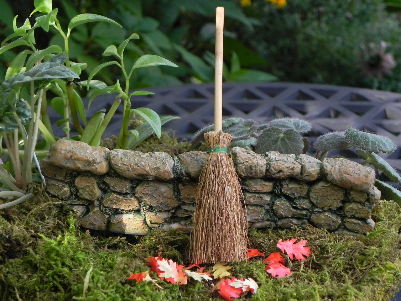 broom miniature garden supply fairy garden accessories for fairy garden accessories - Fairy Garden Accessories