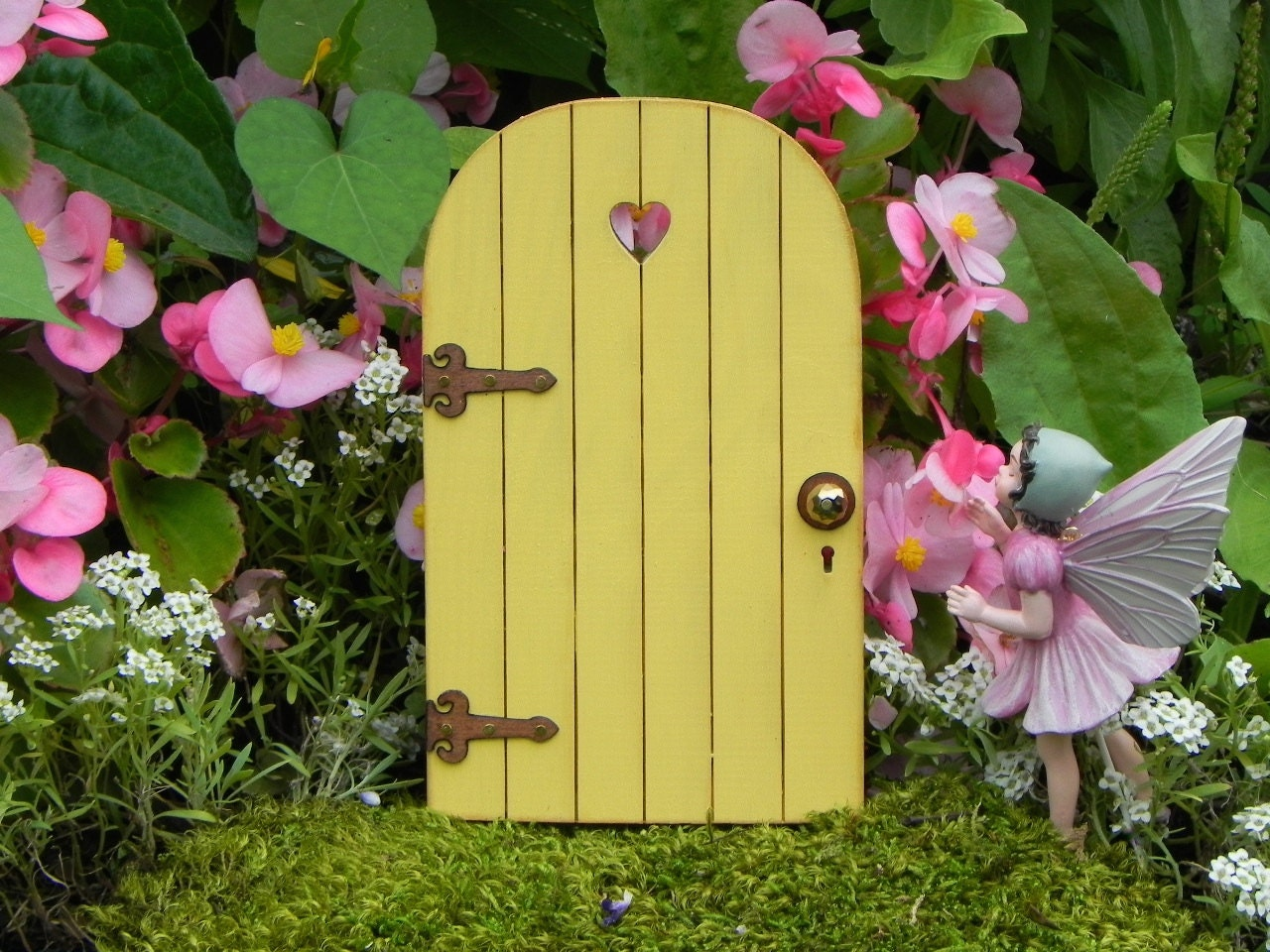 Fairy Door Fairy Garden Miniature Accessories YELLOW
