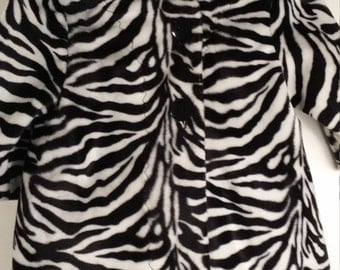 Zebra Overcoat and Hat 2T