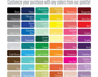 Gathered Nest Designs Color Palette for SHOWER CURTAINS