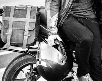 Motorcycle Saddle Bag, Motorcycle Leather Saddle Bag,Motorcycle Custom Made Leather Saddle Bag,