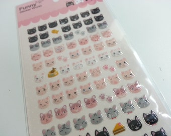 3D Cat Sticker  A - 1 Sheet