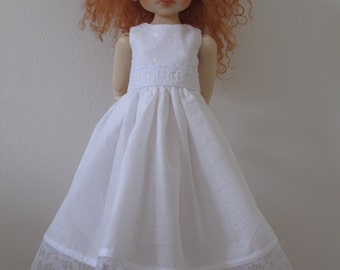 simple white summer dress to fit Kaye Wiggs MSD/BJD and similar