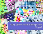 52 Pack: Daisy Yellow Creative Prompt Cards [SALE]