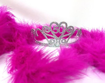 50th Birthday Tiara and Boa