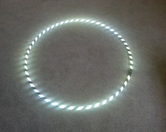 Highly Reflective Zebra Striped Performance Polypro or HDPE Hula Hoop By Colorado Hoops