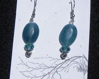 Blue Jade Drop Earrings