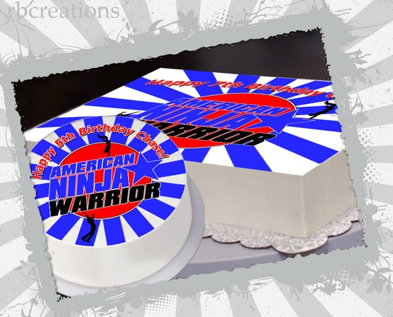 American Ninja Warrior Party Edible Cake Topper by rbcreation