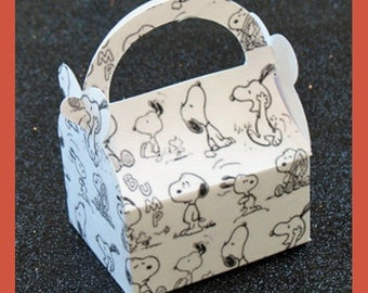 snoopy birthday favor box, snoopy boys favor box ,snoopy shower favor box, snoopy girls favor box, snoopy baby shower box