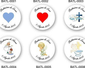 35 personalised stickers baptism
