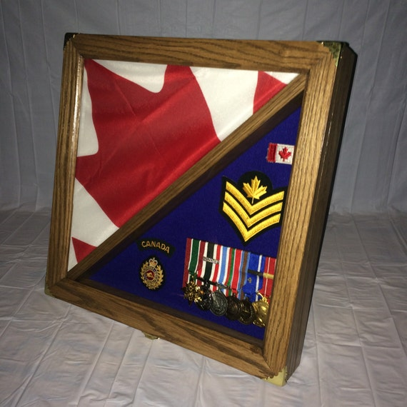 Flag Shadow Box Display Case Medals Display Flag Display
