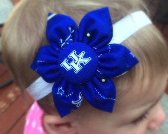 University of Kentucky fabric flower headband