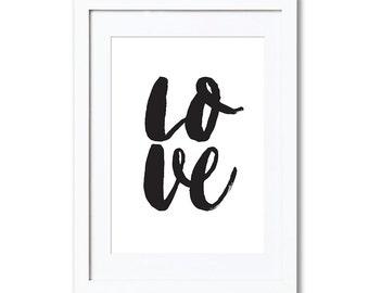 """LOVE, A4 8x10"""" A3 or 11x14"""", printed"""