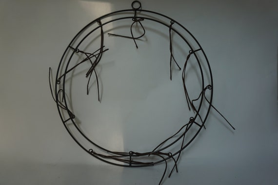 like this item - Wire Wreath Frame With Ties