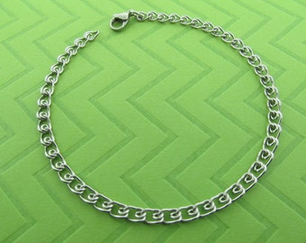 stainless steel chain anklet. avail in 9.5 and 10.5 inches